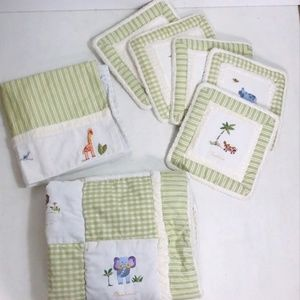 KidsLine Baby Nursery Bedding Crib Quilt 7 Pc Set